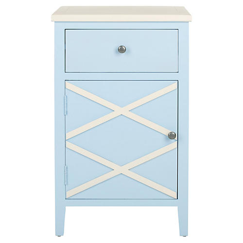 Gemma Nightstand, Blue