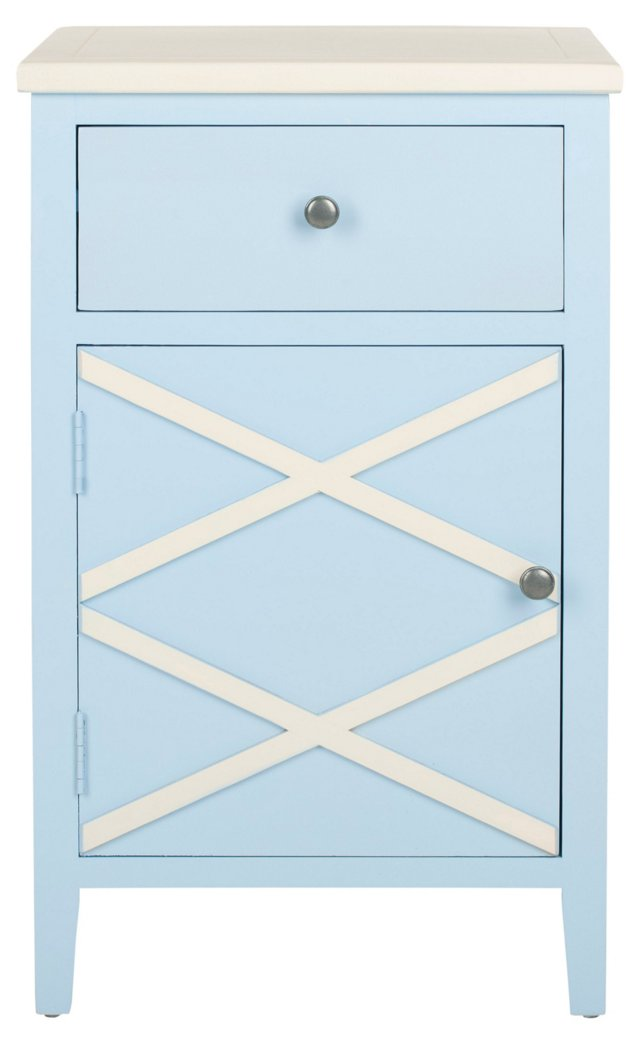 Canaan Table, Light Blue/White