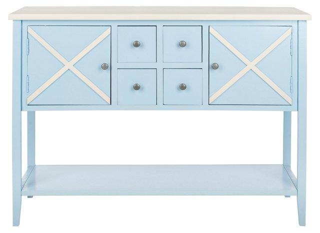 Gemma Sideboard, Light Blue/White
