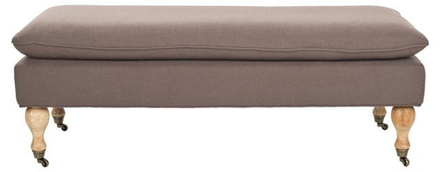 Nikolette Pillow-Top Bench, Taupe