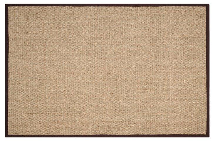 Malcom Sea-Grass Rug, Dark Brown