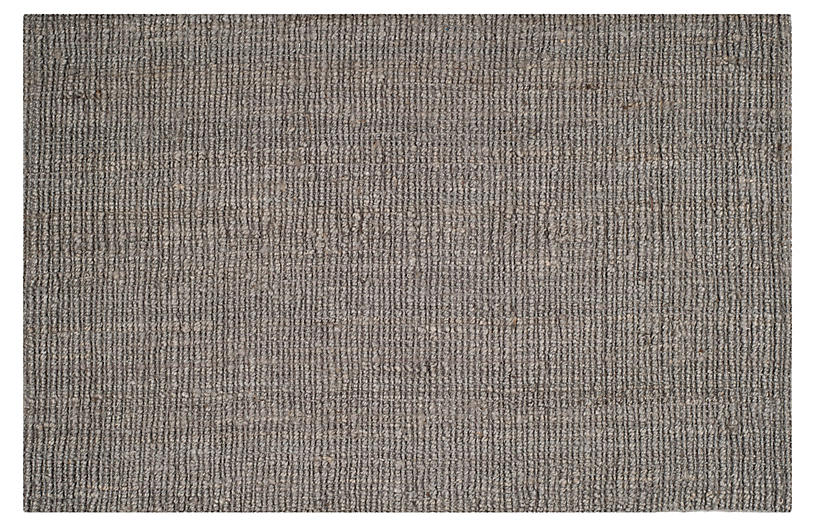 Ale Jute Rug, Light Gray