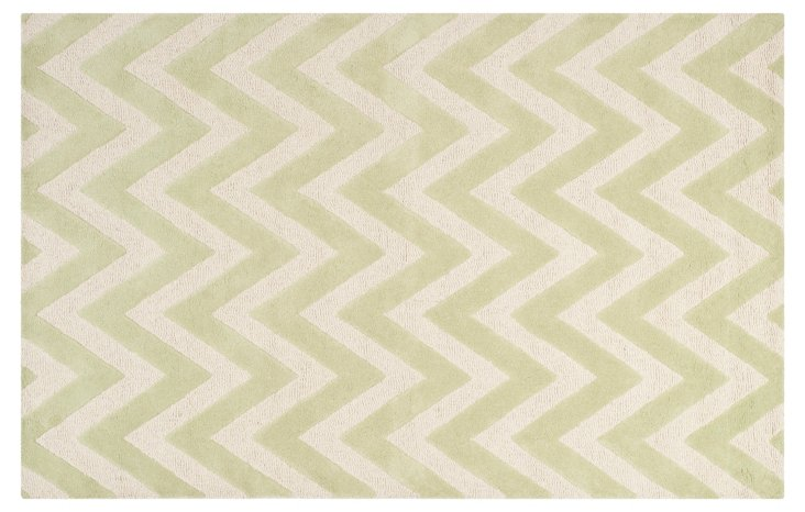 Shoshanna Rug, Light Green/Ivory