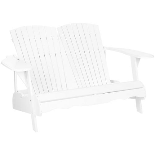 Outdoor Kingston Bench, White