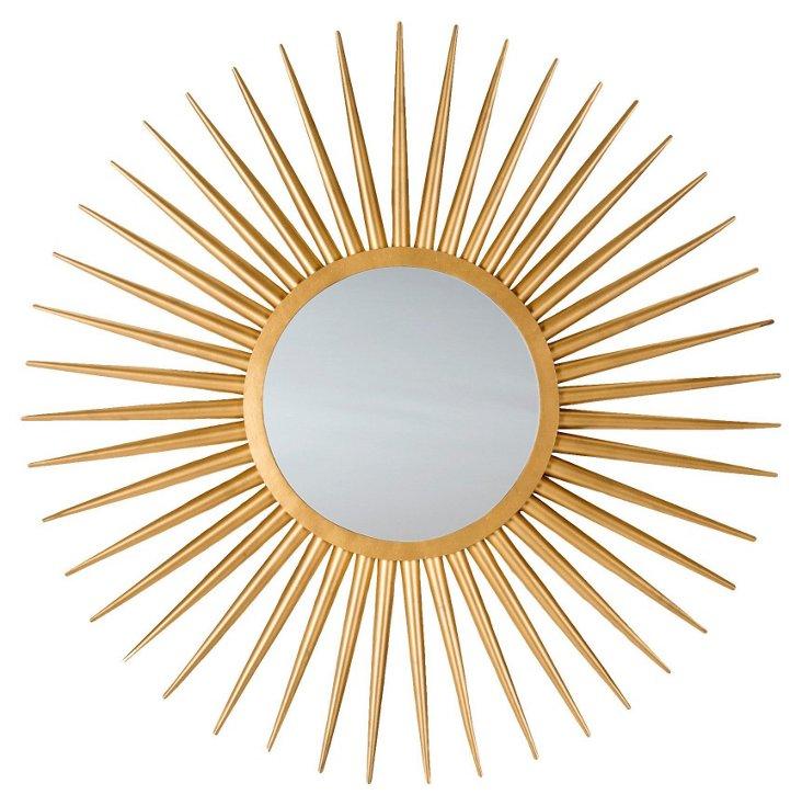 Jada Sunburst Wall Mirror, Gold