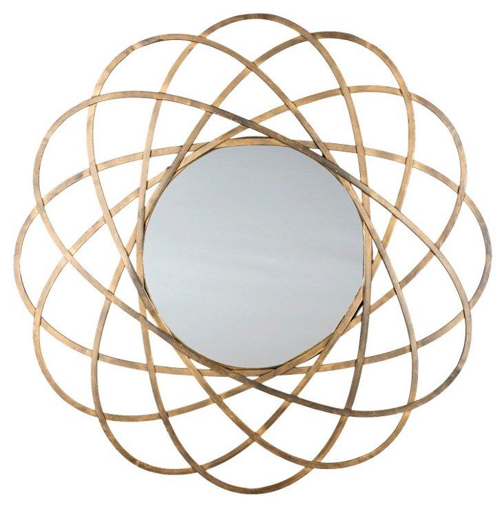 Melody Wall Mirror, Gold