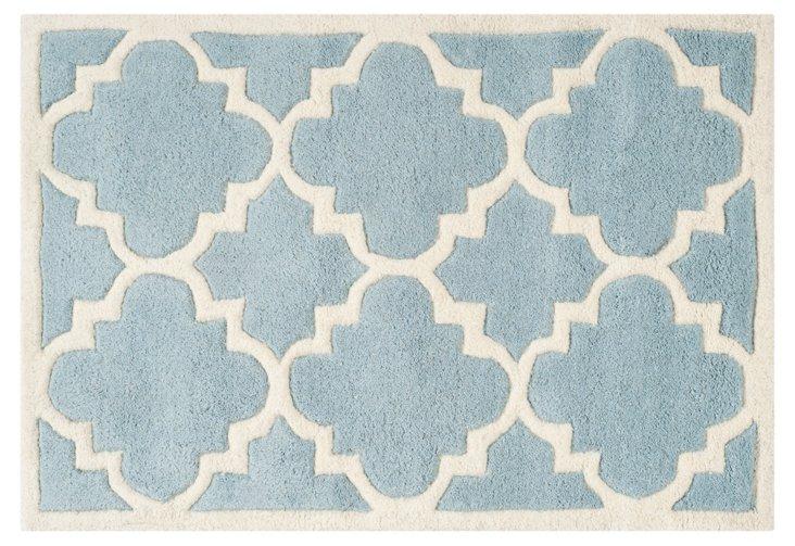 Mia Rug, Blue/Ivory