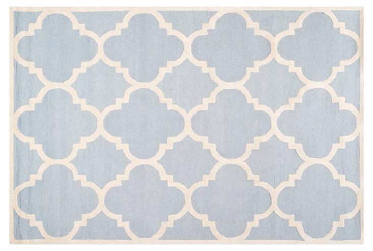 Carly Rug, Light Blue/Ivory