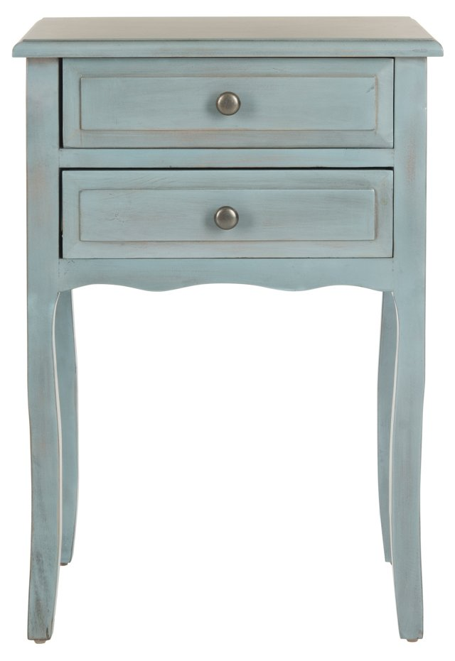 Laila Nightstand, Antiqued Gray