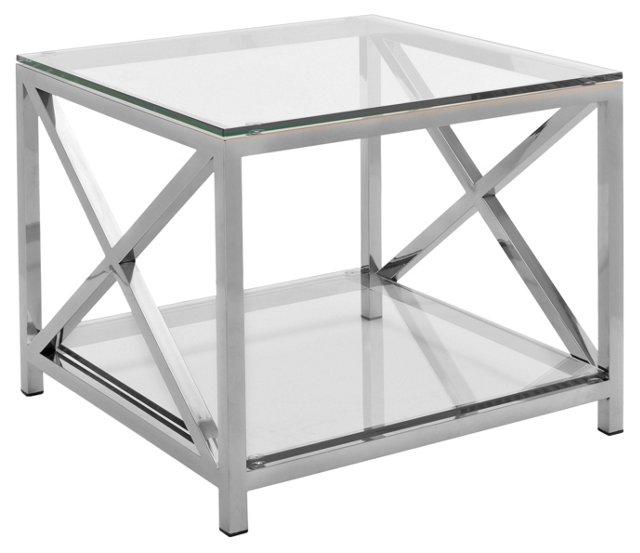 Hayworth Side Table, Silver