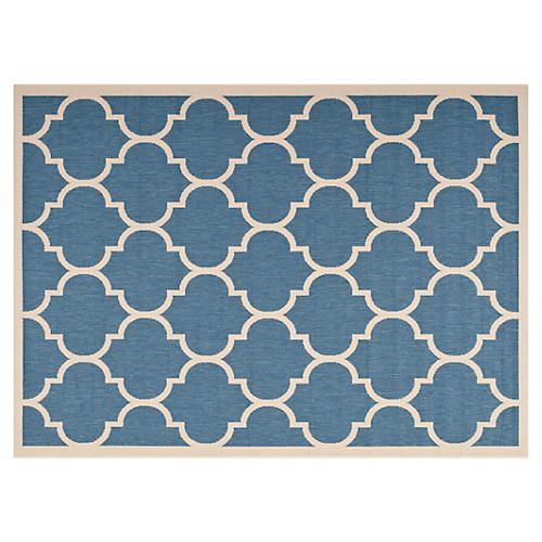 Lori Outdoor Rug, Blue