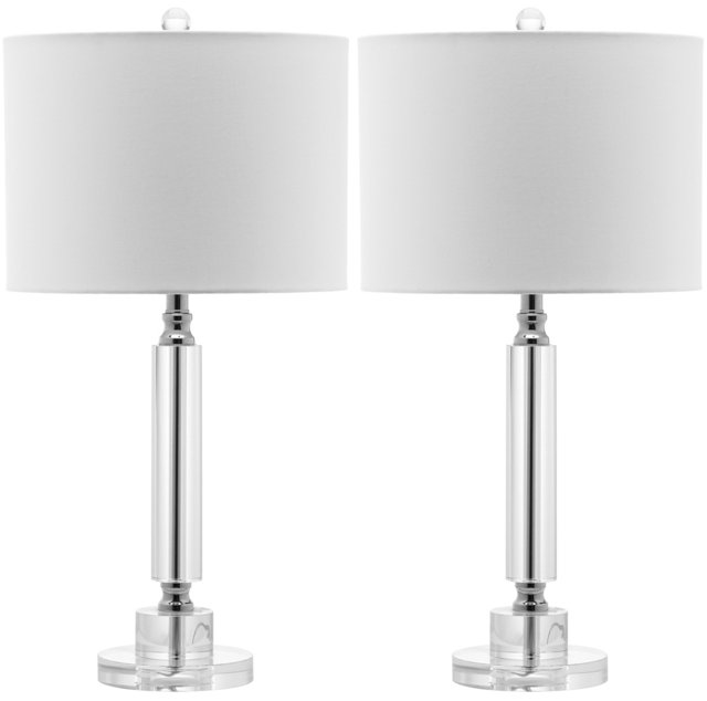 Don Table Lamp Set, Crystal/Chrome