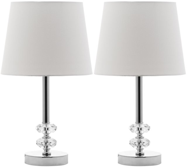 Susanna Crystal Accent Lamp Set, White