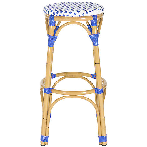 Blue Odeon Barstool, Natural