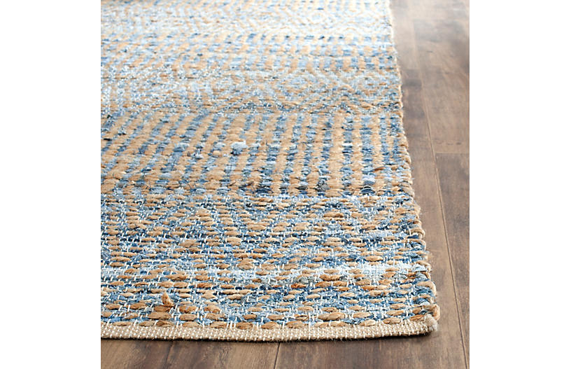 Faley Jute Rug Natural Blue Rugs Under 400