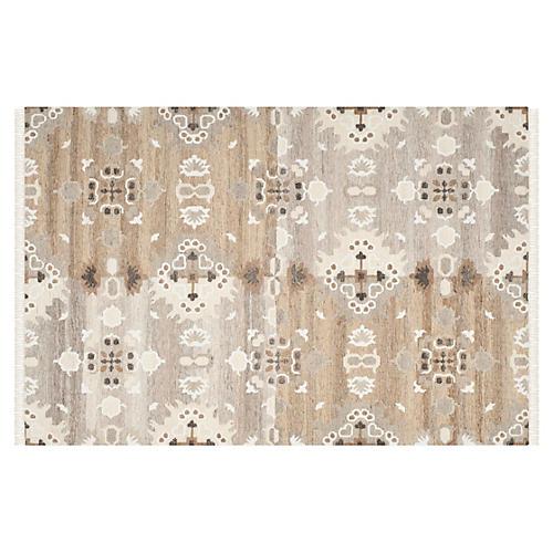 Moone Flat-Weave Rug, Gray