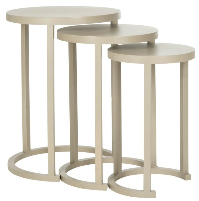 Taupe Sawyer Tables, Set of 3