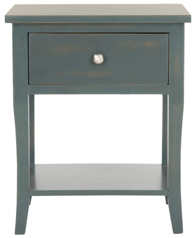 Colby Nightstand, Dark Teal
