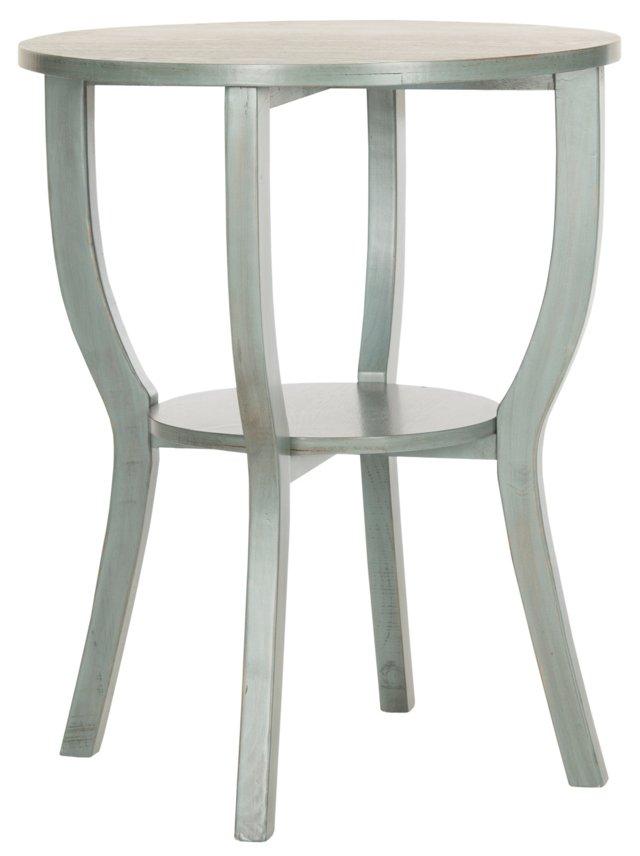 Erika Side Table, Gray/Green
