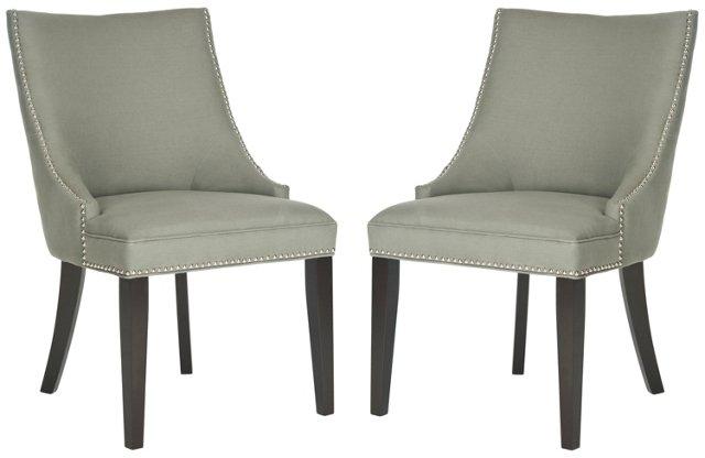 Granite Suki Side Chairs, Pair