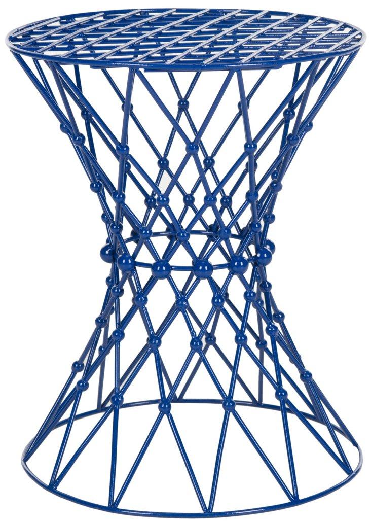 Addison Wire Stool, Dark Blue