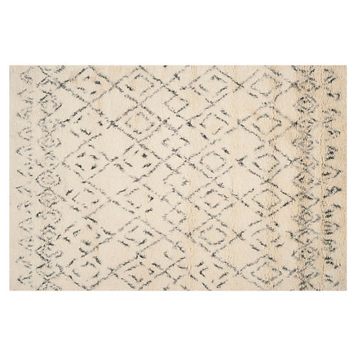 Pike Rug, White/Gray