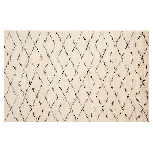 Janie Rug, White/Brown