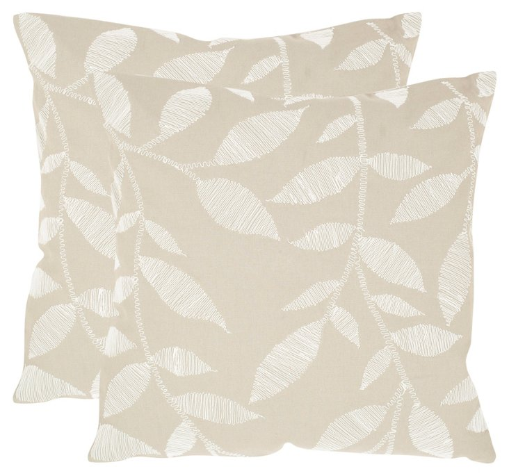 S/2 May Pillows, Beige