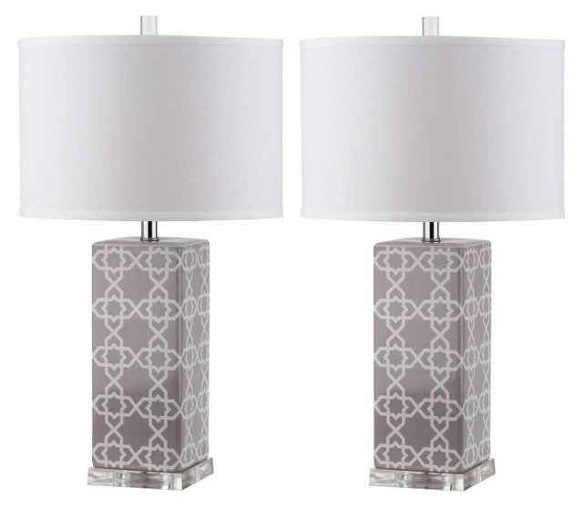 Payton Table Lamp Set, Gray
