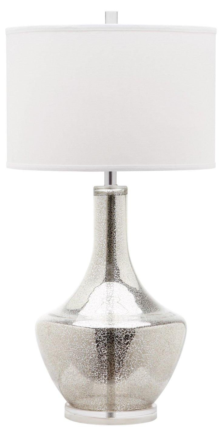 Alexie Buffet Lamp, Mercury Glass