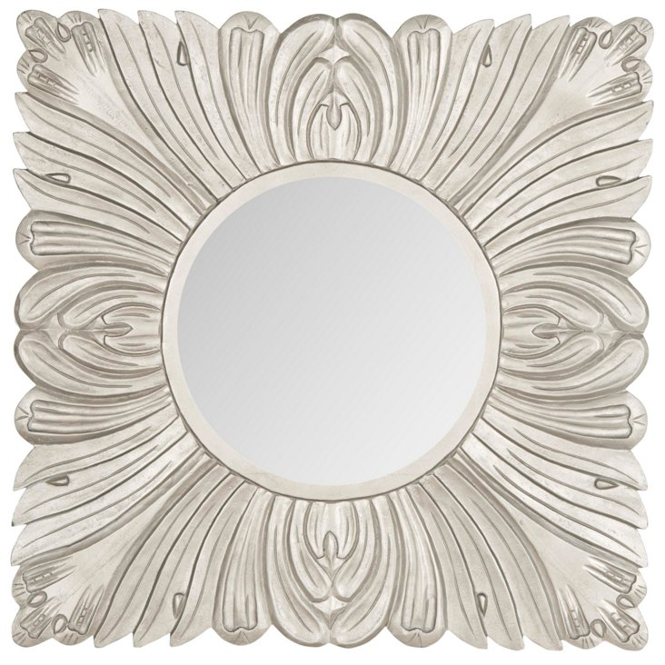 Acanthus Wall Mirror, Pewter
