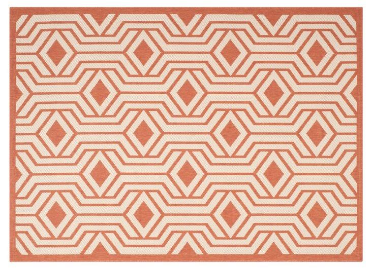 Blanche Outdoor Rug, Terracotta