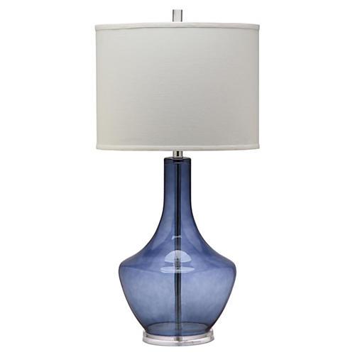 Alexie Buffet Lamp, Blue