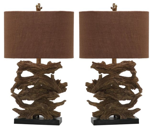 Forester Table Lamp Set, Brown
