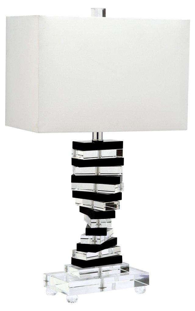 Key Table Lamp, Crystal/Chrome
