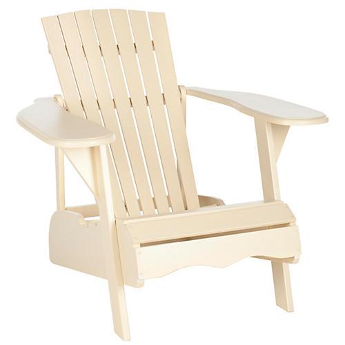 Outdoor Mopani Chair, Beige