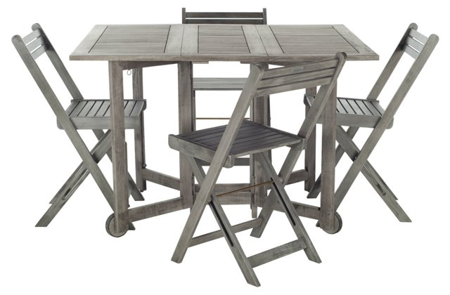 Arvin Table And 4 Chairs, Gray