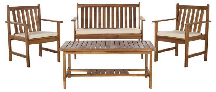Burbank 4-Pc Outdoor Set, Natural