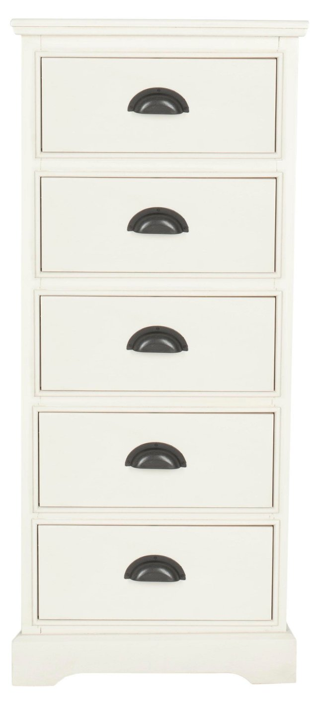 Gillian 5-Drawer Chest, White