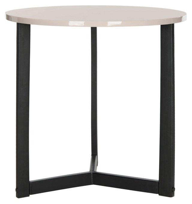 Bailey Side Table, Beige/Black