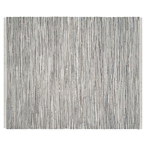 Elsa Flat-Weave Rug, Gray/Multi