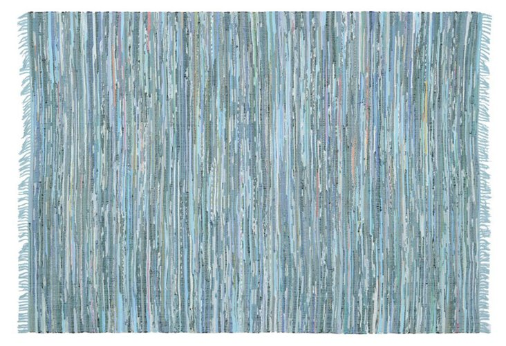 Elsa Flat-Weave Rug, Blue/Multi