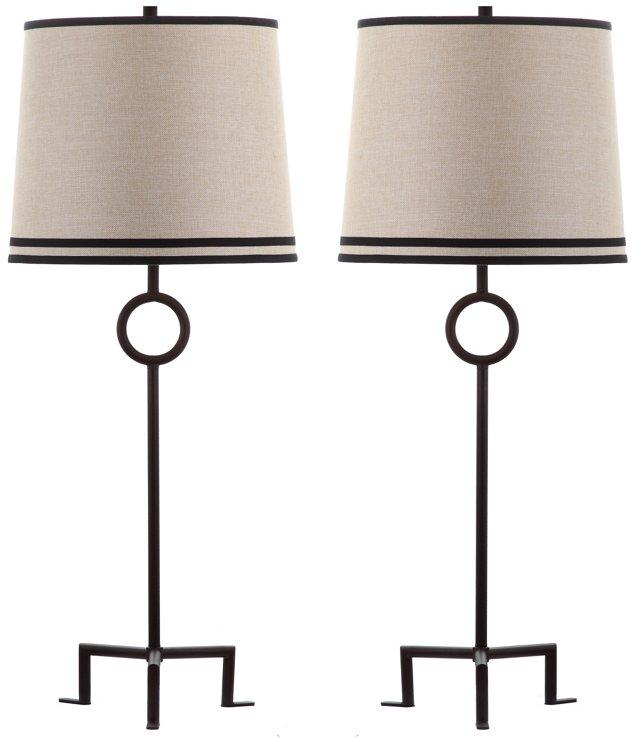 Shotwell Table Lamp Set, Natural Linen