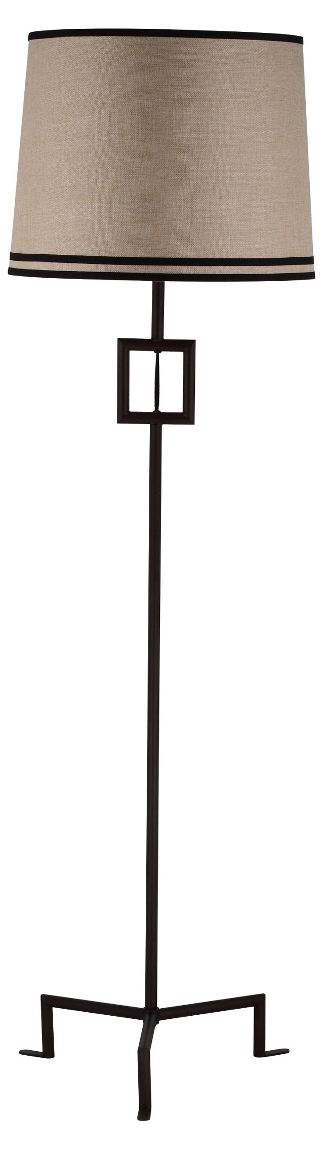 Hanover Floor Lamp, Natural Linen