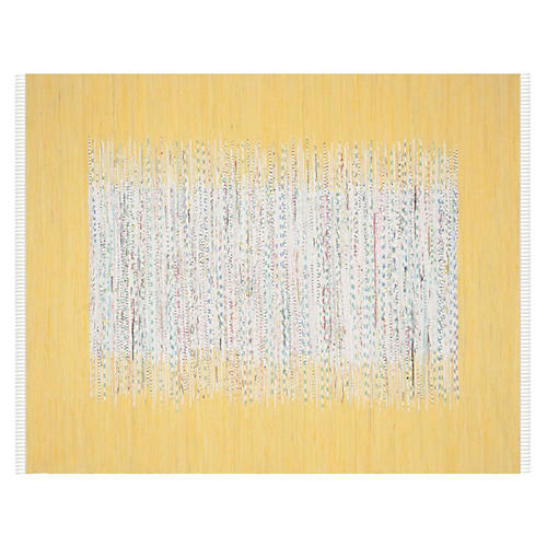 Cay Flat-Weave Rug, Yellow