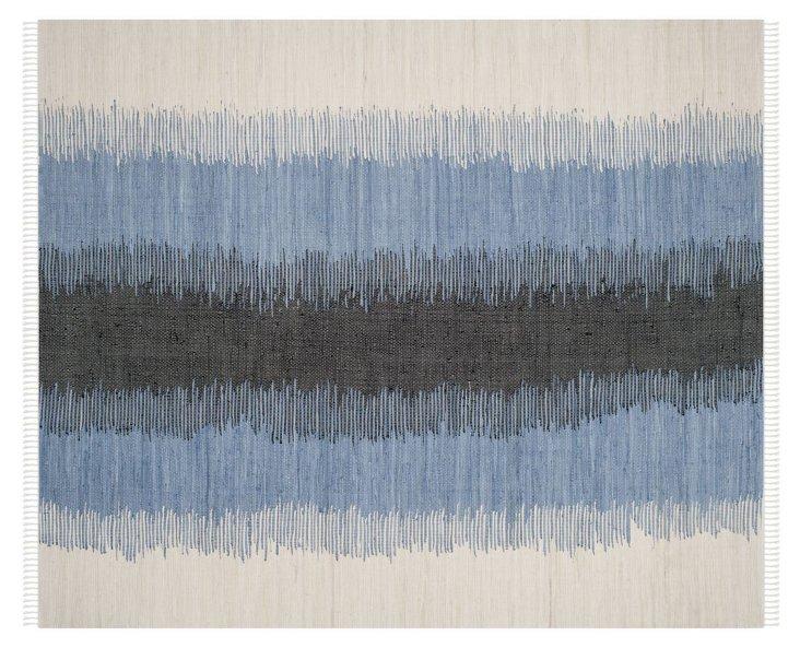 Thea Flat-Weave Rug, Black