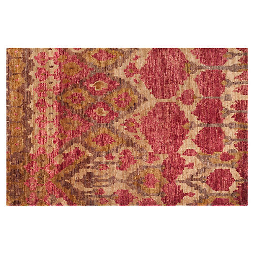 Bedelia Jute Rug, Natural/Gold