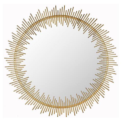 "Rhonda 30"" Wall Mirror, Antiqued Gold"
