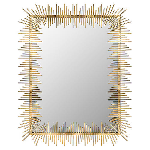 "James 27""x35"" Wall Mirror, Antiqued Gold"