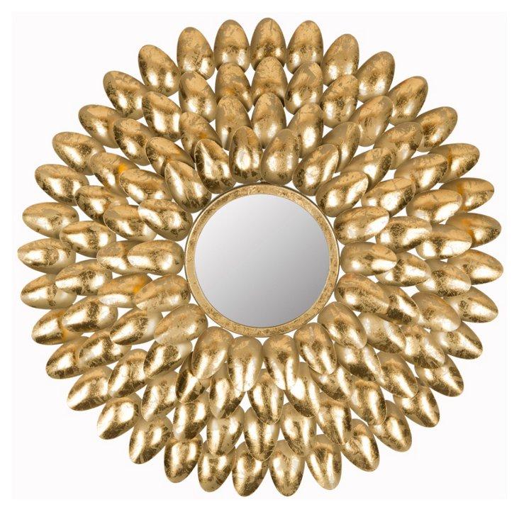 Canton Sunburst Wall Mirror, Gold